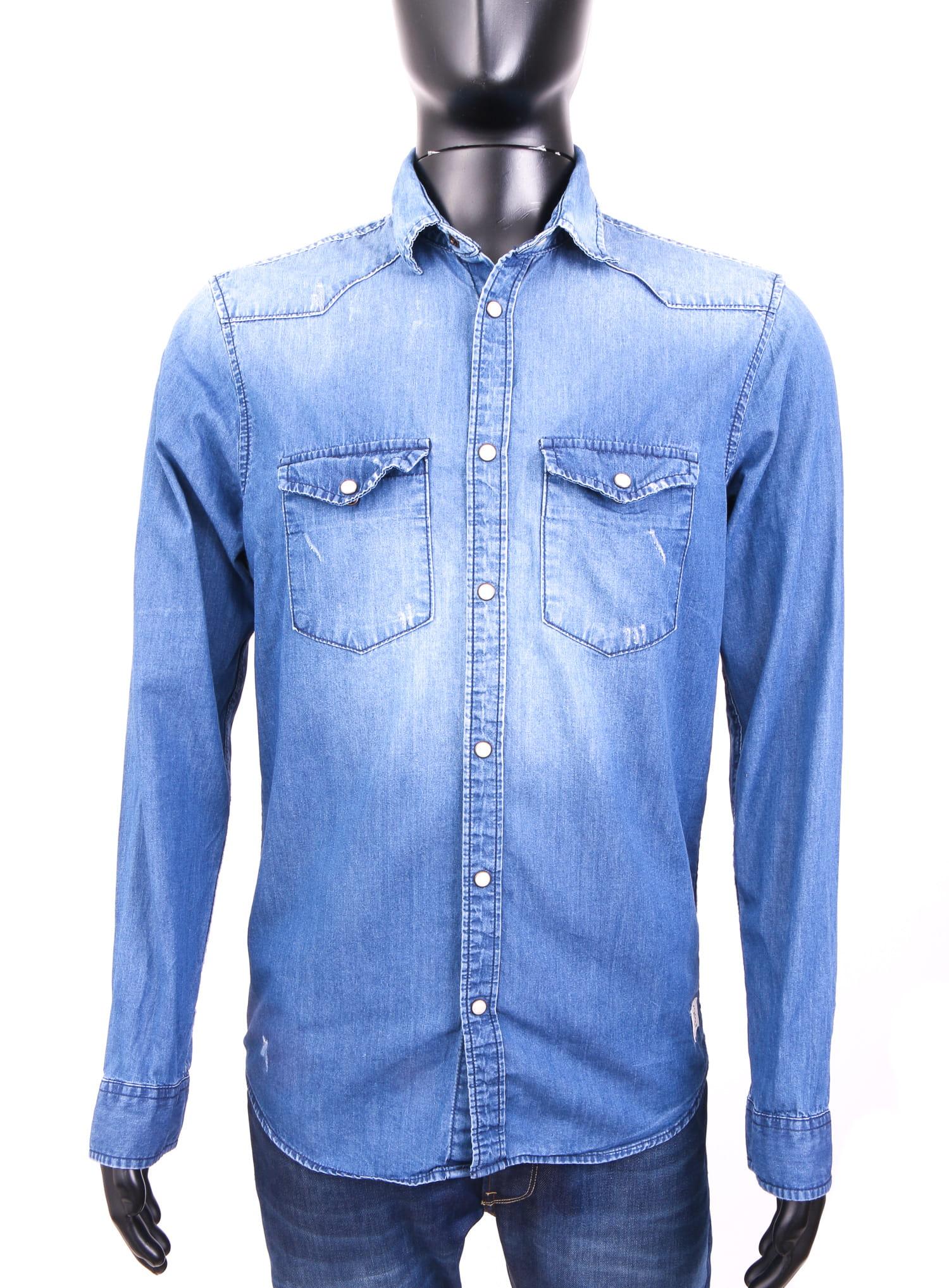 6bc04ad66f Details about Jack Jones Mens Shirt Jeans Tailored Blue size S