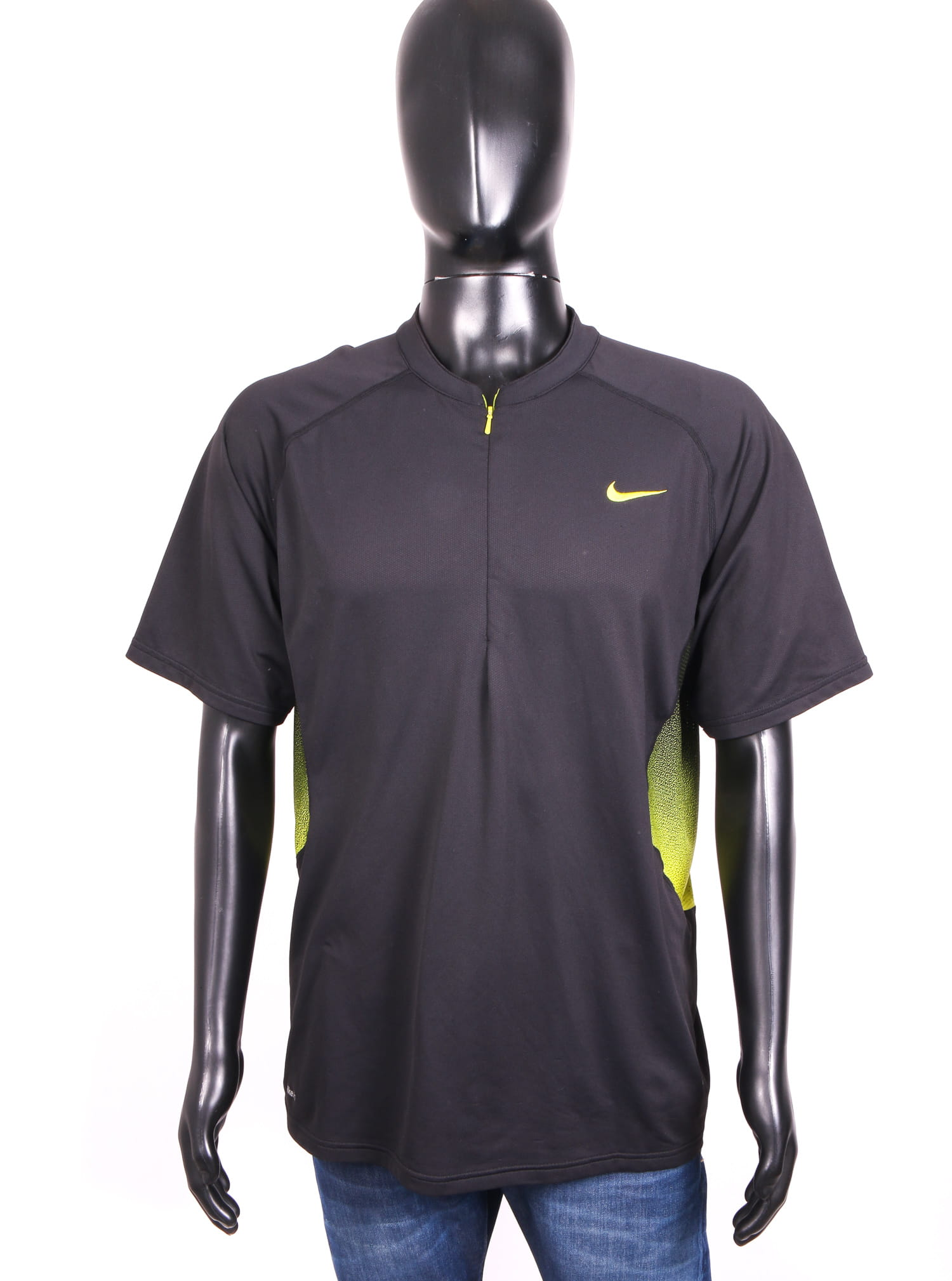 Details About Nike Dri Fit Mens Shirt Thermoactive Zip Up Size L