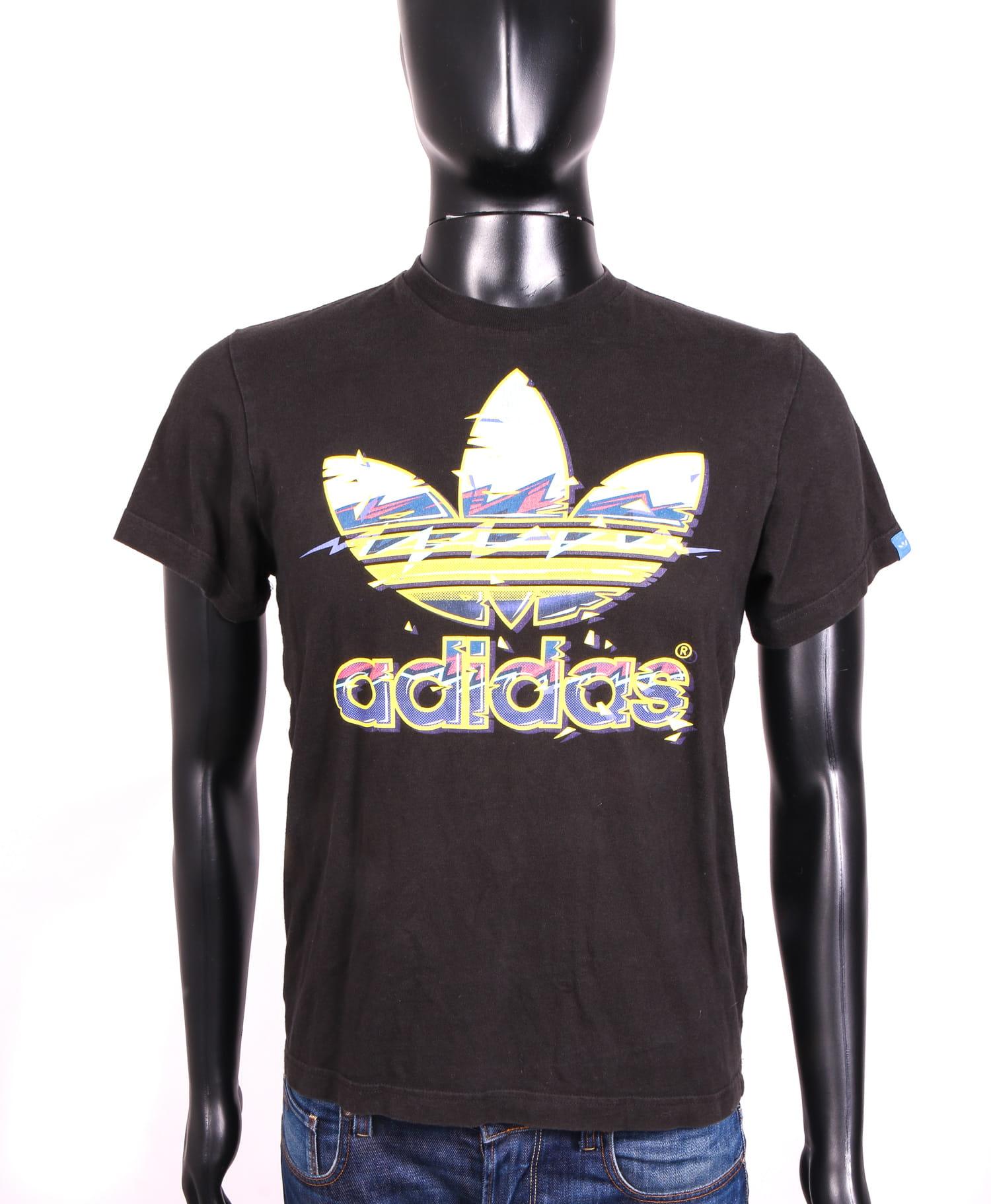Detalles de Adidas Adicolor Mens T shirt Cotton Black S