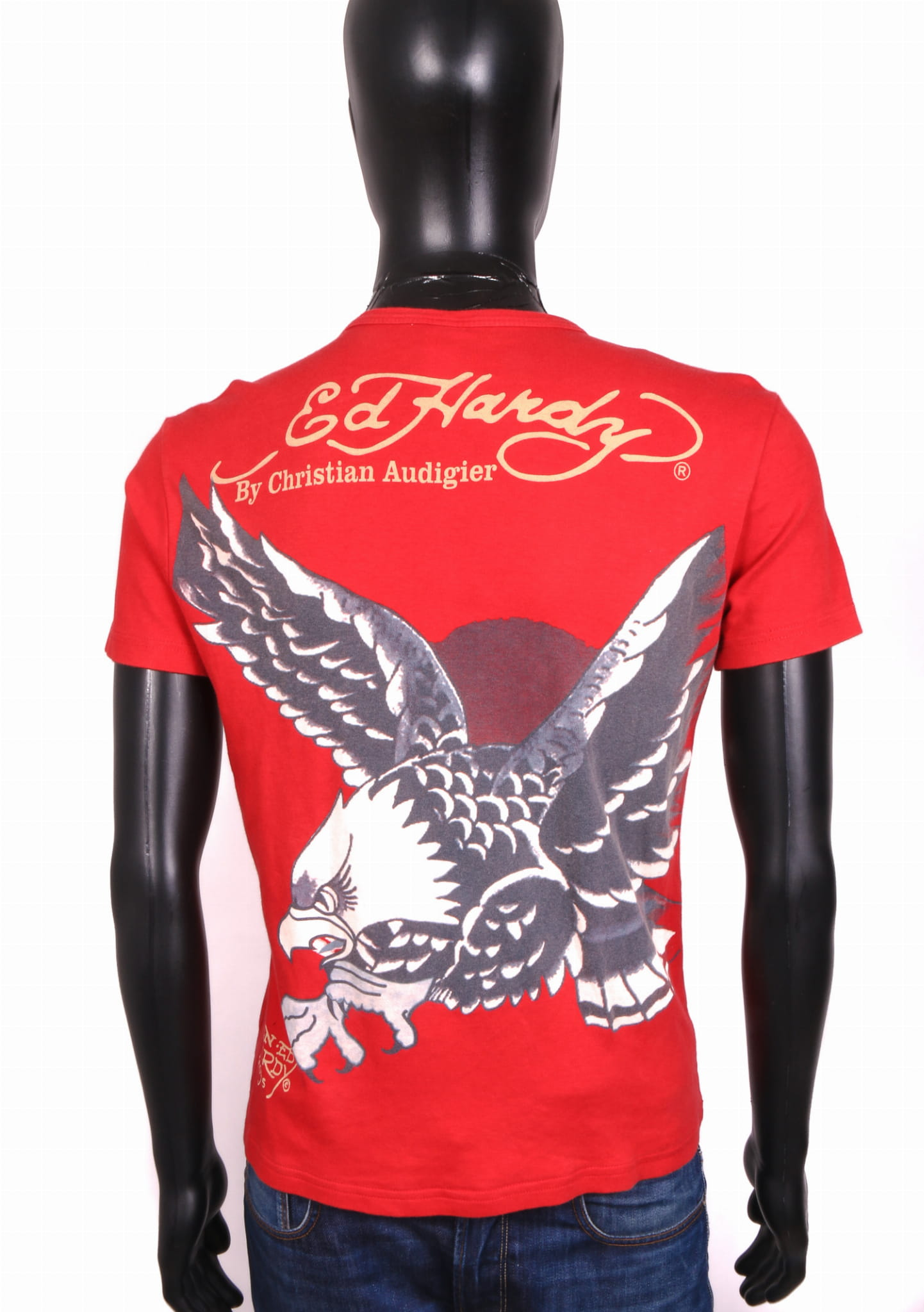 a93f03fc71c Ed Hardy Mens T-shirt Vintage Cotton Red Tee M | eBay