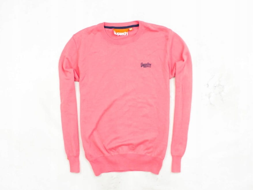 Details About O Superdry Mens Sweather Cotton Pink Size M
