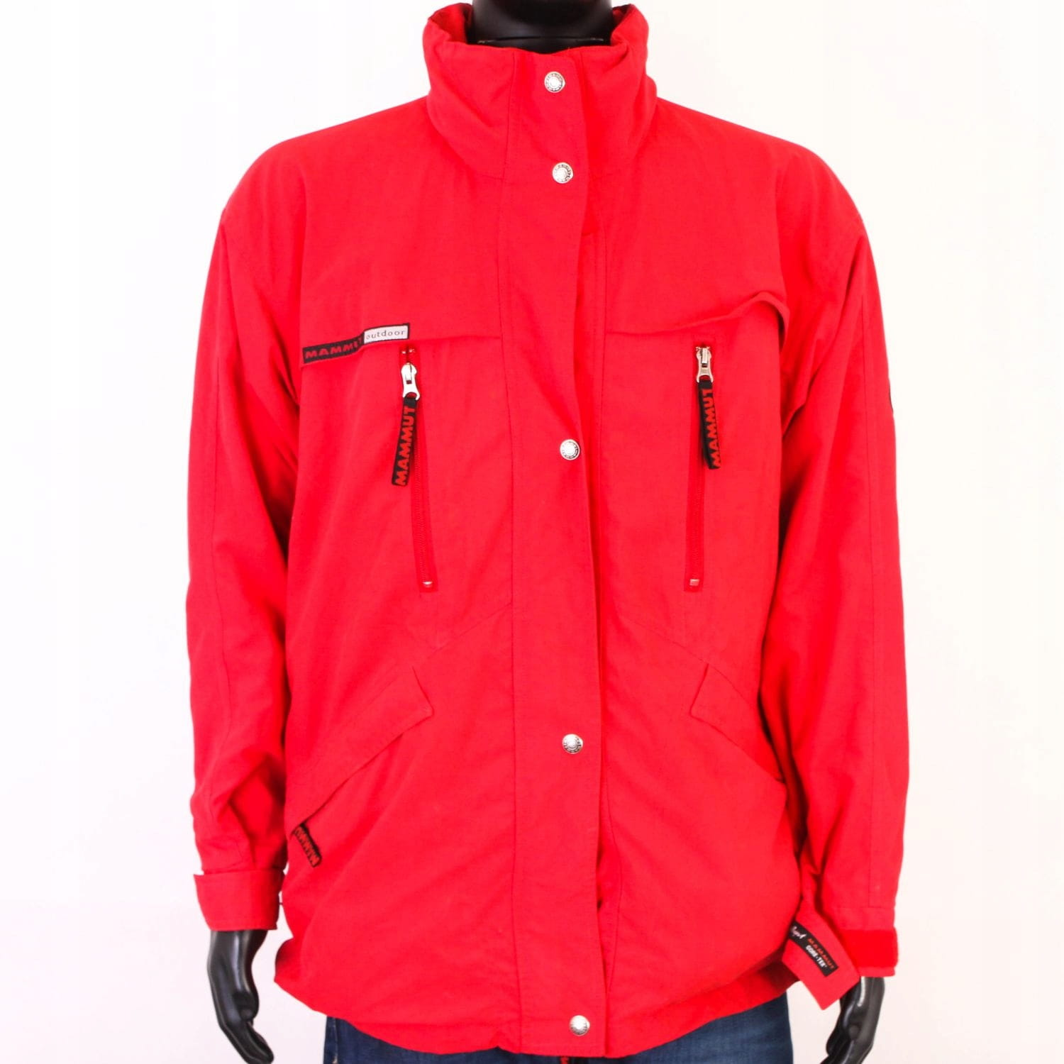 big sale 646b2 76838 Details about T Mammut Outdoor Mens Jacket Membrane Red XL