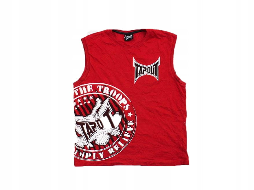 Tapout Lifestyle Vest Mens Gents Sleeveless Shirt Tank Top Round Neck Ventilated