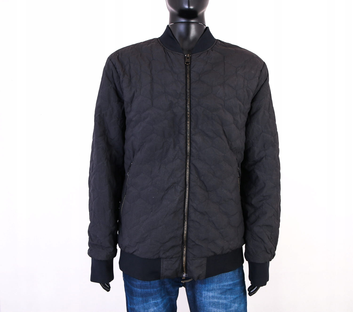 Details About X H M Mens Jacket Quilted Black Size Xl
